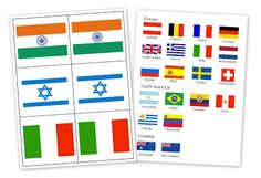 Country Flag Card Printables - Homeschool Creations