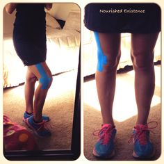 Taping for IT band pain Iliotibial Band Syndrome, It Band Syndrome, K Tape, It Band Stretches, Physical Therapy Exercises, Hip Problems, Kinesiology Taping, Tight Hips, Half Marathon Training