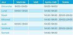 HORAIRES - Centre aquatique Villedieu Intercom - Villedieu les Poêles