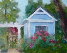 "Daily+Paintworks+-+""Garden+Shed""+-+Original+Fine+Art+for+Sale+-+©+Carol+Josefiak"