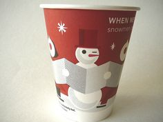 Starbucks red cup When We're Together Snowmen Come to Life