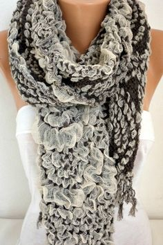 Scarf Fall Winter Accessories Cowl Scarf Oversize by fatwoman