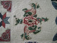 Sarah Morrell Quilt broderie perse block by Carole @ Wheels on the Warrandyte Bus - pattern by Di Ford quilting by Katrina's Quilting