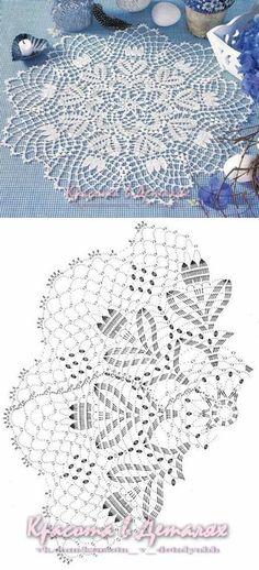 Watch The Video Splendid Crochet a Puff Flower Ideas. Phenomenal Crochet a Puff Flower Ideas. Crochet Tablecloth Pattern, Crochet Doily Diagram, Crochet Edging Patterns, Crochet Mandala Pattern, Crochet Circles, Crochet Chart, Thread Crochet, Filet Crochet, Crochet Designs