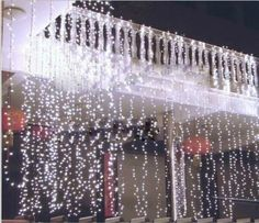 Lightess 600 LED Christmas String Fairy Outdoor or Indoor Curtain Lights Cold…