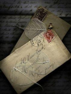 vintage letters ~