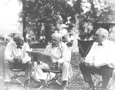 Henry Ford, Thomas Edison and President Harding, 1921