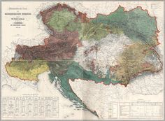 Ethnographic Map of the Austrian Empire, 1855 // I f*cking Love Maps // Cartography // Austria Ap World History, European History, Austria Map, Austrian Empire, By Any Means Necessary, Austro Hungarian, Old Maps, Historical Maps, Vintage World Maps