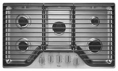 "Appliance Package 2: Whirlpool 5 Burner 36"" Gas Cooktop WCG51US6DS (Stainless Steel)"