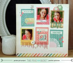 A traditional layout by Jennifer Gallacher using 3x4 project life cards.