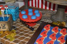 Pirate birthday party cookies! See more party planning ideas at CatchMyParty.com!
