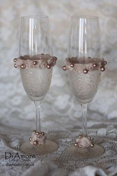 Hey, I found this really awesome Etsy listing at http://www.etsy.com/listing/129466320/ivory-wedding-champagne-glasses-rustic
