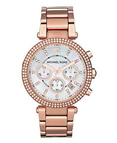 Michael Kors Watch, Women's Chronograph Rose Gold Tone Stainless Steel Bracelet 39mm MK5491 - All Watches - Jewelry & Watches - Macy's