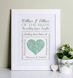 Wedding Gifts For Parents Of The Bride | wedding ideas | Pinterest ...