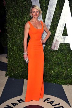 Cameron Diaz at the Vanity Fair Oscar Party. Simple, but elegant.