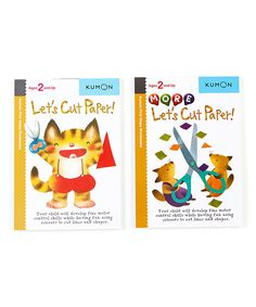Love this Let's Cut Workbook Set by Kumon Publishing on #zulily! #zulilyfinds