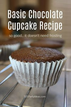 This basic homemade Chocolate Cupcakes Recipe creates the best rich, moist, tender cupcakes and is easy to make. A classic done right! Basic Cupcake Recipe, Cupcake Recipes For Kids, Cupcake Recipes From Scratch, Dessert Recipes, Homemade Cupcake Recipes, Chocolate Cupcakes From Scratch, Easy Chocolate Cupcake Recipe, Chocolate Recipes, Chocolate Frosting