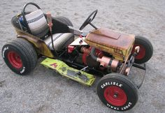 Sprocket's Garage built this rad Diesel Weasel Mow-Cart out of a 1960 Viking mower, slapping it into the weeds and swapping in a coal-rolling diesel.