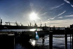 Beautiful place #hamburg #harbour #elbe #sunshine #sunset #water #boats #bridges #ilovehamburg