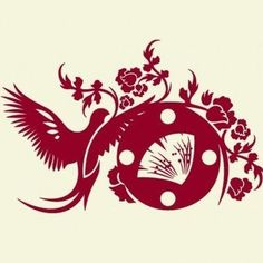 Style and Apply Asian Wall Clock Wall Decal Color: Dark Green