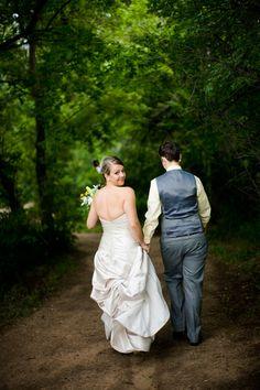 Eli and Kimberly's Chatfield Botanic Gardens Same-Sex WeddingA Vote & A Vow