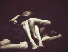 Adam and Eve - Only Lovers Left Alive. I love the way they slept. It wasn't always cutesy and cuddly, it was real and comfortable.