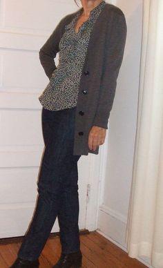 Flattering50: Ruffles and the boyfriend sweater