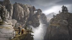 Brothers: A Tale of Two Sons is remarkably simple in its design and premise and surprisingly dark and mature in it's story. Coupled together, Starbreeze have crafted one of the best games of the year. Grim Fairy Tales, Best Games, My World, Mount Rushmore, Concept Art, Waterfall, Brother, Environment, The Incredibles