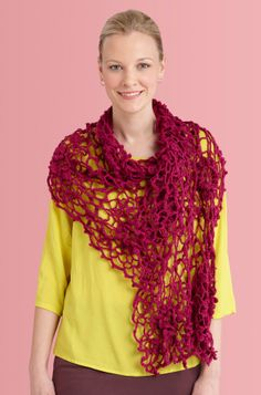 Irish Crochet Shawl By Lion Brand - Free Crochet Pattern - (joann.lionbrand)