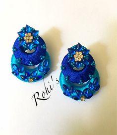 Silk Thread Earrings, Thread Jewellery, Jewellery Making, Diy Jewelry, Handmade Jewelry, Jewelry Design, Diy Earrings, Crochet Earrings, Thread Art
