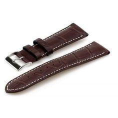 Heiden Alligator Style Leather Watch Band with White Stitching - D. Brown Leather Strap Watch, Leather Watch Bands, Urban Chic, My Boyfriend, Different Colors, Stitching, Belt, Watches, Accessories