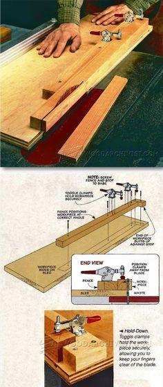 Tapering Jig Plans - Furniture Legs Construction Techniques | WoodArchivist.com