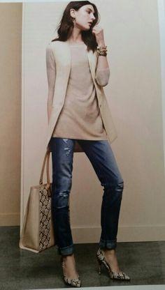8e9ea5faa1a57 White House Black Market Tunic with vest Stitch Fit