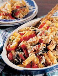 Chicken portobello mushroom pasta bake