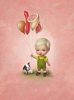 Balloon Boy by Mark Ryden © Mark Ryden......his art is so bizarre, but I'm strangely drawn to it