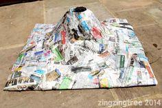 Papier Mache Volcano shell
