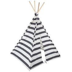 Gray & White Striped Teepee