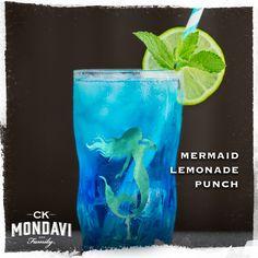 Fresh Squeezed Lemonade, Blue Curacao, Wine Cocktails, Spiced Rum, Lemon Slice, Sauvignon Blanc, Ginger Ale, Fresh Mint, Shot Glass