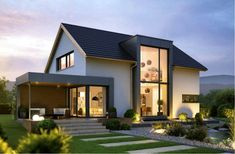 Haus 1 - Architecture Designs - Up 1 - Exterior Design Modern Bungalow Exterior, Dream House Exterior, Future House, Modern Home Design, Architecture Design, Design Exterior, Exterior Colors, Prefabricated Houses, Facade House