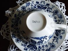 Pre 1949 Blue Onion Tea Cup and Saucer Set; etsy $15