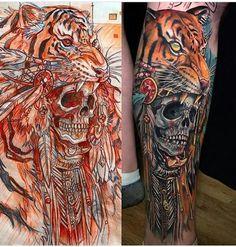 Evil Tattoos, Skull Tattoos, Leg Tattoos, Sleeve Tattoos, Wolf Tattoo Design, Tattoo Designs, Tattoo Ideas, Tattoo Sketches, Tattoo Drawings