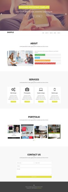 22 Best Free Templates images in 2015 | Bootstrap template, Website