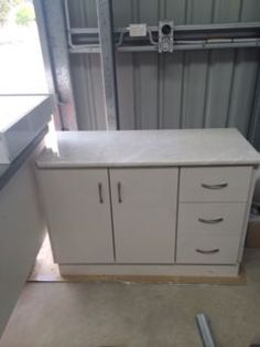 Double Bathroom Vanity Unit With Stone Top Brown Cabinet