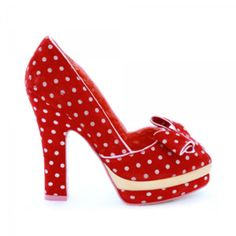 These red polka dot shoes are absolutely cute, flirty & fun . Perfect for Spring and summer days and those Hot, summer nights..K♥♥♥
