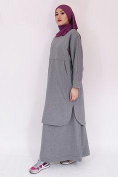 Niqab Fashion, Frock Fashion, Muslim Fashion, Fashion Dresses, Terno Casual, Casual Hijab Outfit, Hijab Chic, Long Skirt Hijab, Hijab Dress Party