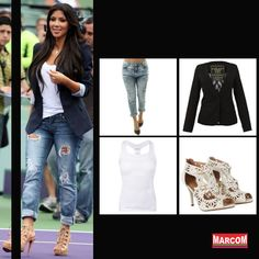 http://modamarcom.com.br/calca-boyfriend-se-renda/ #boyfriend #pants #style #jeans #denim #look #kim #kardashian #basic #heels #fashion