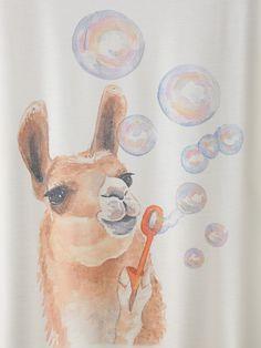 T-shirt imprimé alpaca manche courte-French SheIn(Sheinside)