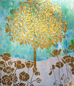 Painting Tree Flowers Original Large Textured by: http://www.etsy.com/shop/NewModernArt