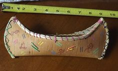 9 Inch Miniature Birch Bark Canoe with Daily Life Figures. Authentic Design