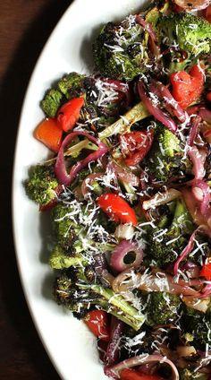 Charred Broccoli and Red Onion Salad